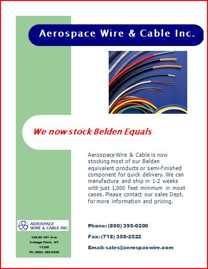 Aerospace Wire & Cable Inc - New Production